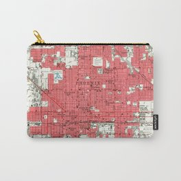 Vintage Map of Phoenix Arizona (1952) 3 Carry-All Pouch