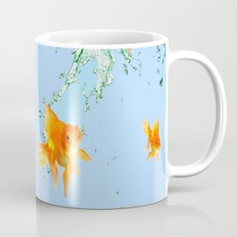 GOLDFISH AQUARIUM SPLASHING  WATER ART Coffee Mug