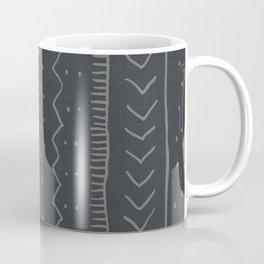 Moroccan Stripe in Charcoal Coffee Mug