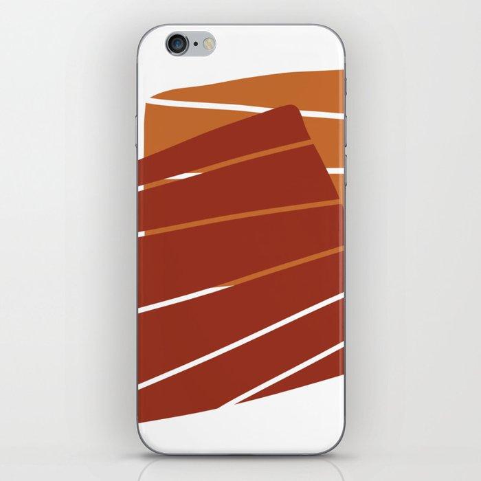 Red Orange iPhone Skin