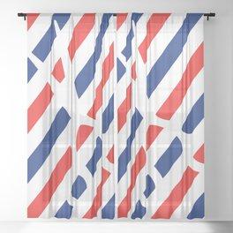 Barber Scissors Sheer Curtain