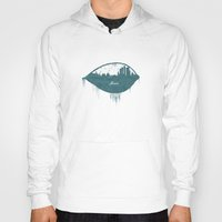 moscow Hoodies featuring Frozen Moscow by Paula Belle Flores
