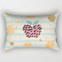 Seamless Pattern with Cute Apples Rectangular Pillow