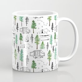 Camping and Trees Coffee Mug