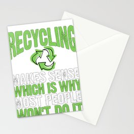 Recycle Recycling Makes Sense Protect the Environment Stationery Cards