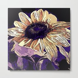 Sunflower B1 Metal Print