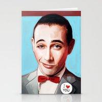 pee wee Stationery Cards featuring Pee-Wee Herman Is Back by lensebender