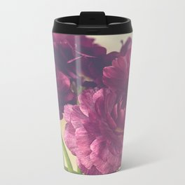 Romantic Ranunculus Metal Travel Mug