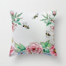Bee Spring Already!! Throw Pillow