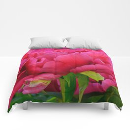 Dark Pink Tree Peony by Teresa Thompson Comforters