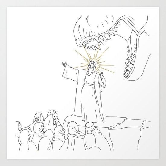 Jesus, Etc. (Alt) Art Print