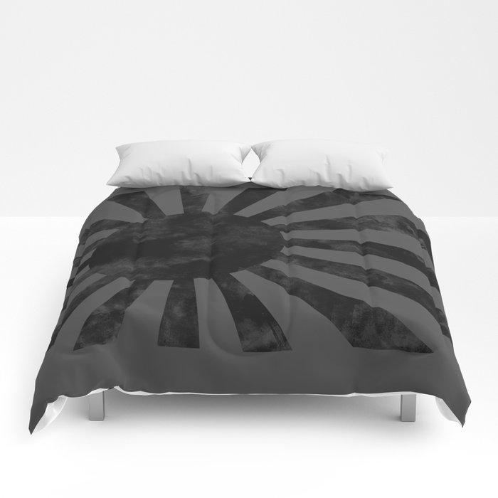 Black Japan Empire Flag Comforters