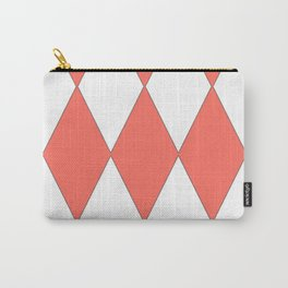 LIVING CORAL - LARGE HARLEQUIN DESIGN Carry-All Pouch
