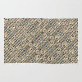 Cobblestone Geometric Texture Rug