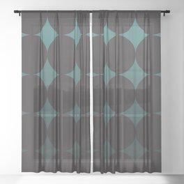 Circling Emerald Sheer Curtain