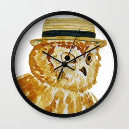 Dapper Owl or Owl Capone? Wall Clock