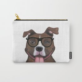 Hipster Pit Bull Carry-All Pouch