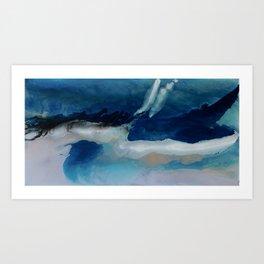 DEEP - Resin painting Art Print