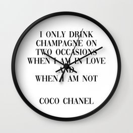 coco quote Wall Clock