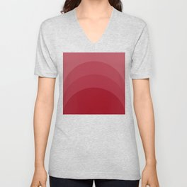 Four Shades of Red Curved Unisex V-Neck