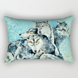 Our Brothers, the Wolves Rectangular Pillow