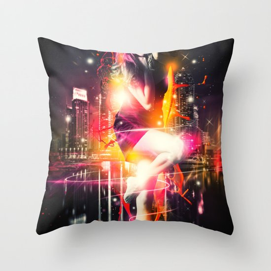 Citylights Throw Pillow