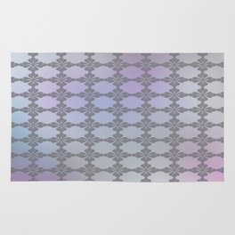 Soft Ornate Grid Pattern Rug