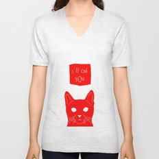i'll cat you. Unisex V-Neck