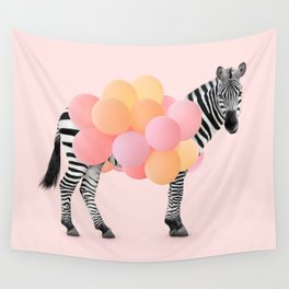 PARTY ZEBRA Wall Tapestry