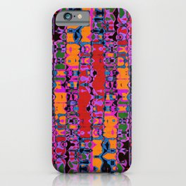 Abstract Irregular Pattern Multicolored  iPhone Case