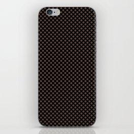 Black and Carafe Polka Dots iPhone Skin