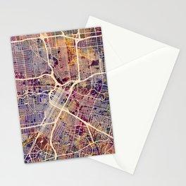Houston Texas City Street Map Stationery Cards