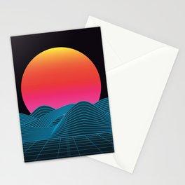 Computer sundown Stationery Cards