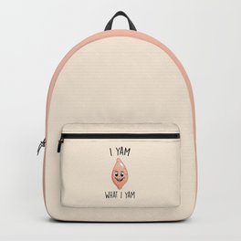 I Yam What I Yam, Funny, Cute, Quote Backpack