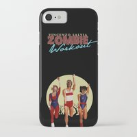 workout iPhone & iPod Cases featuring Zombie Workout by Vincenzo Salvia