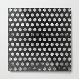 Mahogany Polka Dots (Black & White) Metal Print