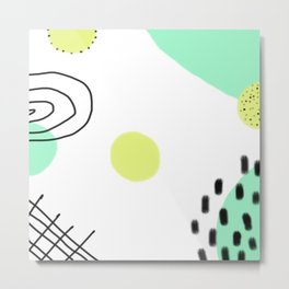 Minty Abstract Metal Print
