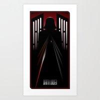 darth vader Art Prints featuring Darth Vader by Szoki