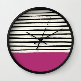 Raspberry x Stripes Wall Clock