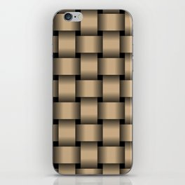 Large Tan Brown Weave iPhone Skin