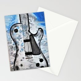 Guitar Art. Featured on back cover of The Music and Art of Black Cat Records. Stationery Cards