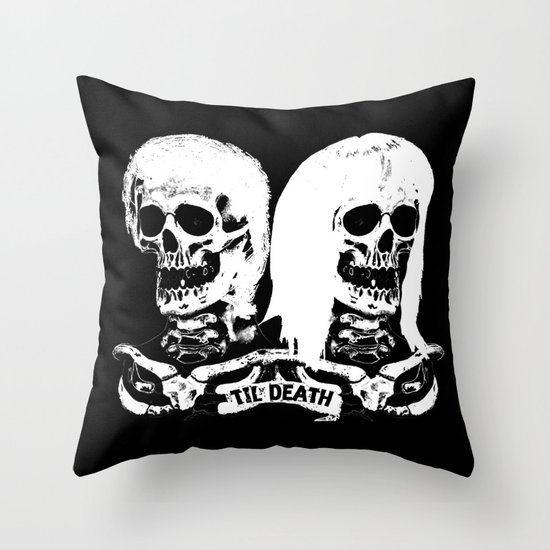 Til Death Throw Pillow