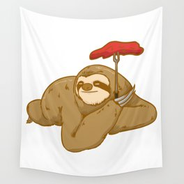 grill barbeque sloth Wall Tapestry