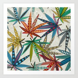 boho weed light Art Print