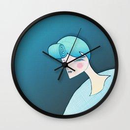 Blue days Wall Clock