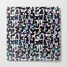 graffiti letters alphabet - graffiti pattern ABC 1 Metal Print