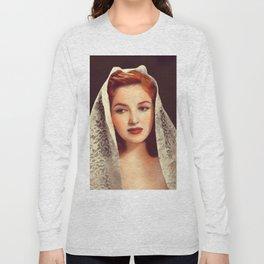Martha Vickers, Vintage Actress Long Sleeve T-shirt