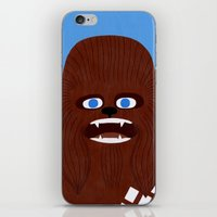 chewbacca iPhone & iPod Skins featuring Chewbacca by Jack Teagle