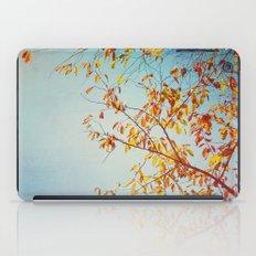 textured leaves. iPad Case