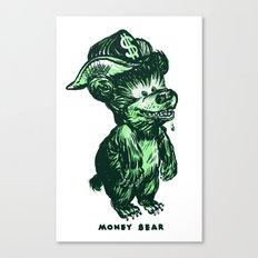 The Money Bear Canvas Print